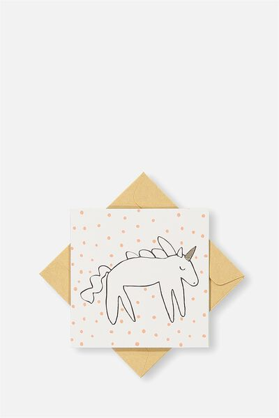 Gift Cards, ORANGE SPOT UNICORN