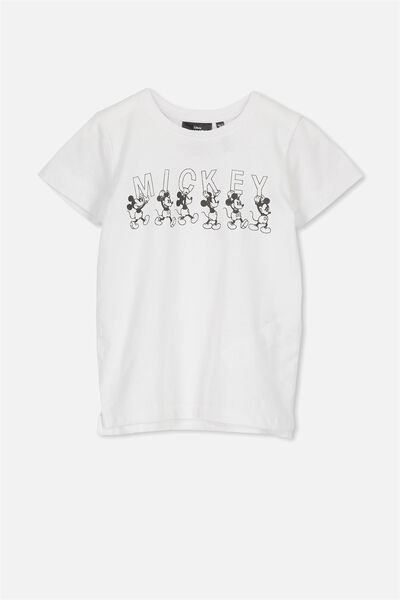 Short Sleeve License Tee, MICKEY/WHITE