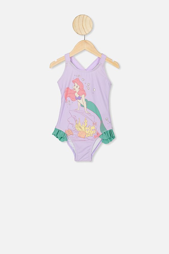 Allie One Piece, LCN DIS BABY LILAC/THE LITTLE MERMAID