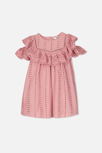 Rosie Cold Shoulder Dress, SWEET BLUSH