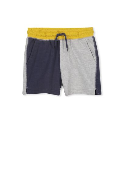 Henry Slouch Short, WASHED NAVY/LT GREY MARLE SPLICE