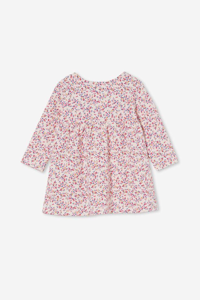 Molly Long Sleeve Dress, VANILLA/CALI PINK SOMERSET FLORAL