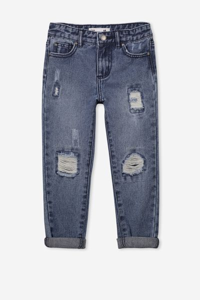 India Slouch Jean, MID WASH