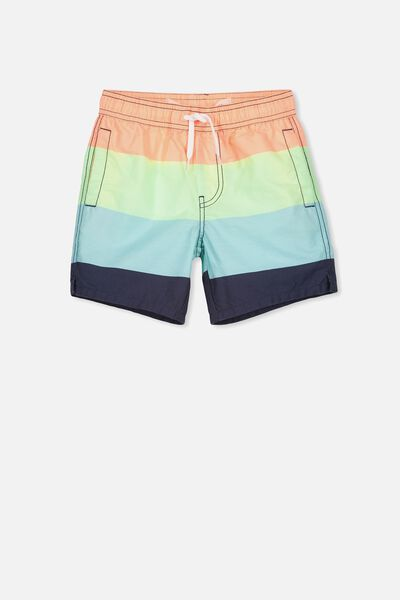 Murphy Swim Short, TROPICAL ORANGE/MULTI STRIPE