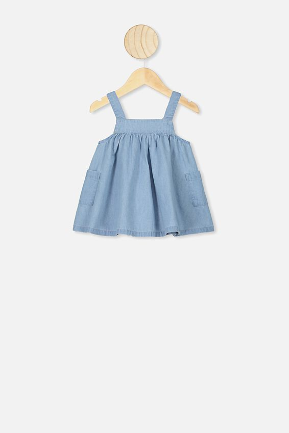 Penny Pinafore Dress, CHAMBRAY