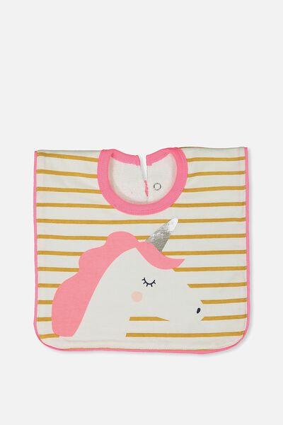 Hansel And Gretel Babies Bib, VANILLA/UNICORN