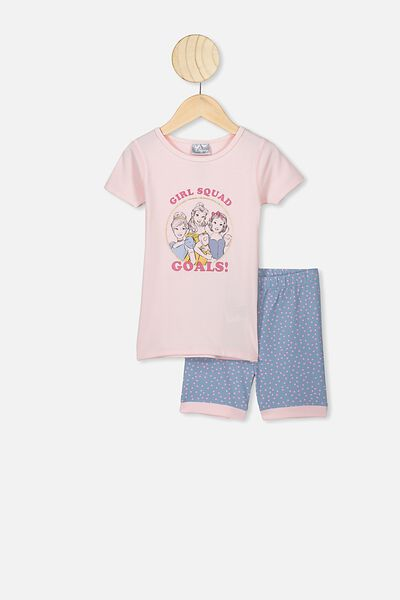 Nikki Short Sleeve Pajama Set, LCN DIS CRYSTAL PINK PRINCESS GIRLS SQUAD