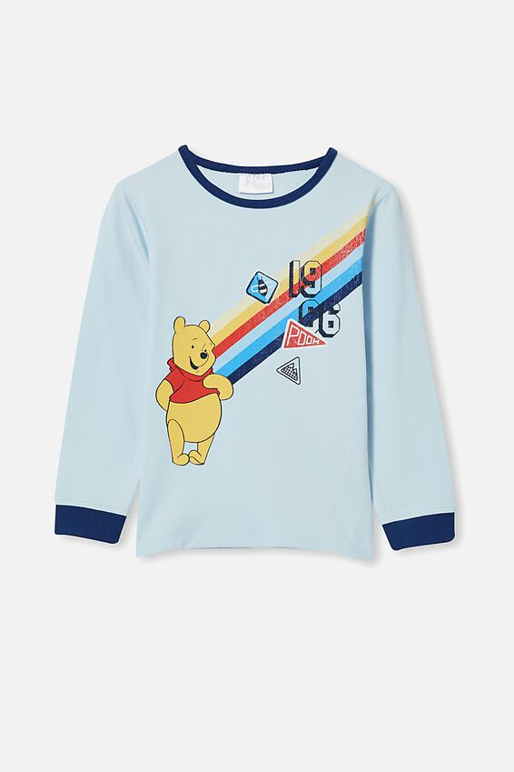 Orlando Long Sleeve Pyjama Set Licensed, LCN DIS WINNIE THE POOH/FROSTY BLUE