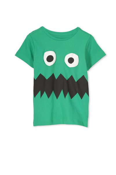 Max Short Sleeve Tee, CARNIVAL GREEN/MONSTER FACE