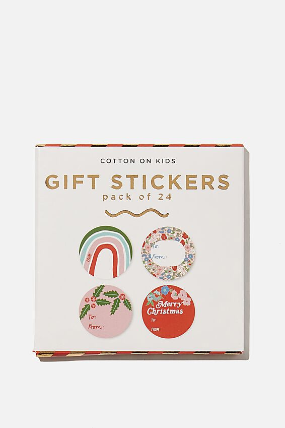 Christmas Wrap Stickers, FLORAL CHRISTMAS