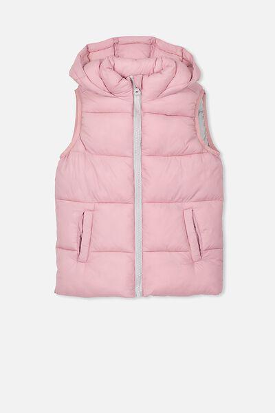 Billie Puffer Vest, PINK NECTAR