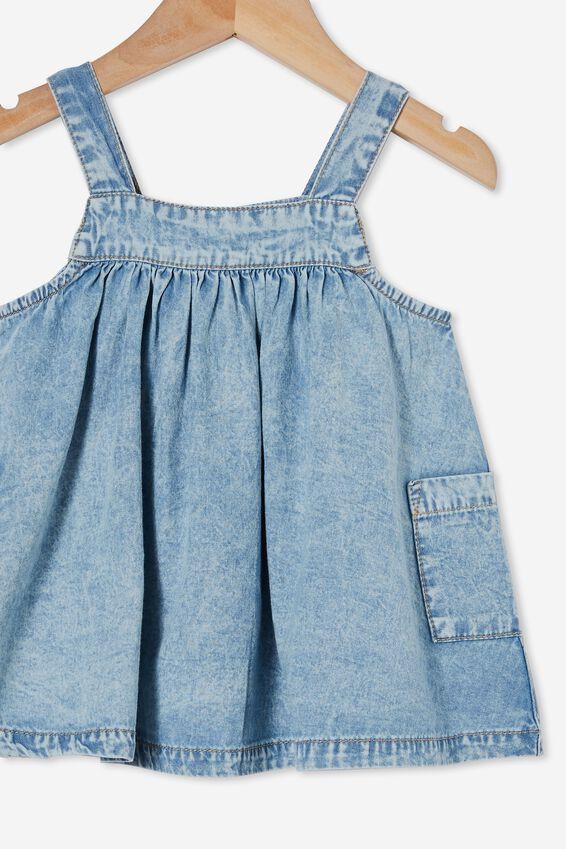 Penny Pinafore Dress, LIGHT CHAMBRAY WASH
