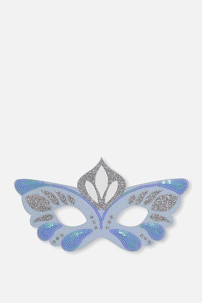 Glitzy Fun Mask, BLUE CARNIVALE
