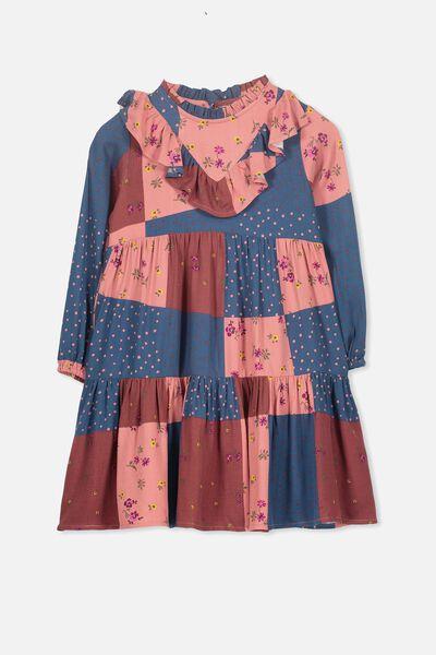Laura Long Sleeve Dress, SPLICED FLORAL