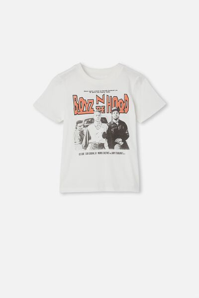 Co-Lab Short Sleeve Tee, LCN MT RETRO WHITE/BOYZ N THE HOOD