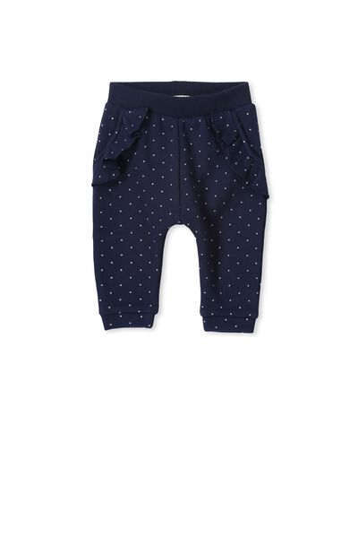 Issey Frill Trackpant, PEACOAT BLUE/SPOT