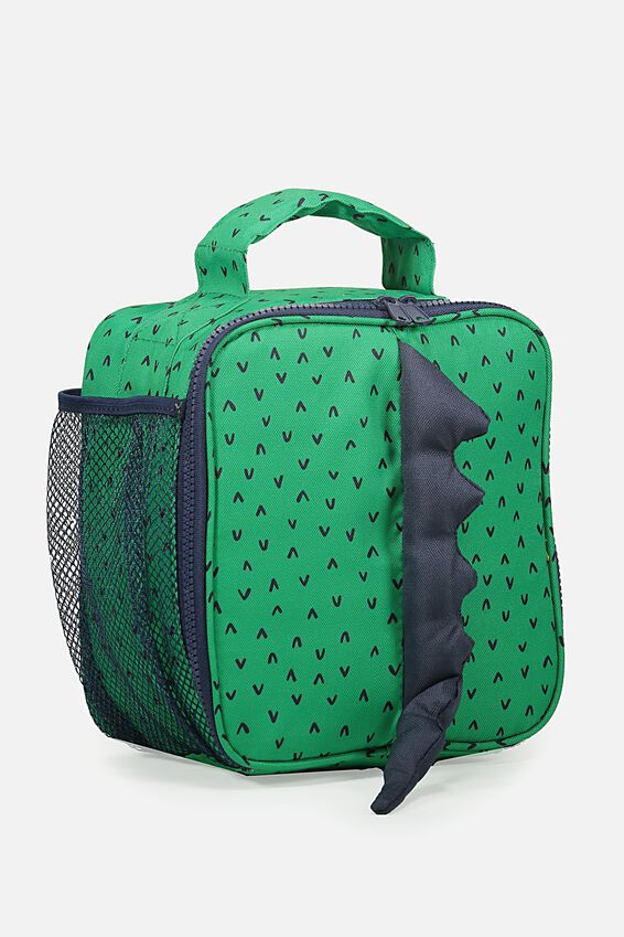 Kids Fancy Lunch Bag, GREEN DINOSAUR