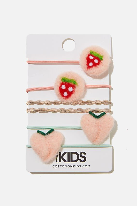 Hannah Hair Ties, PINK FRUITS