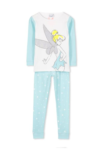 Kristen Long Sleeve Girls PJs, TINKERBELL STARS