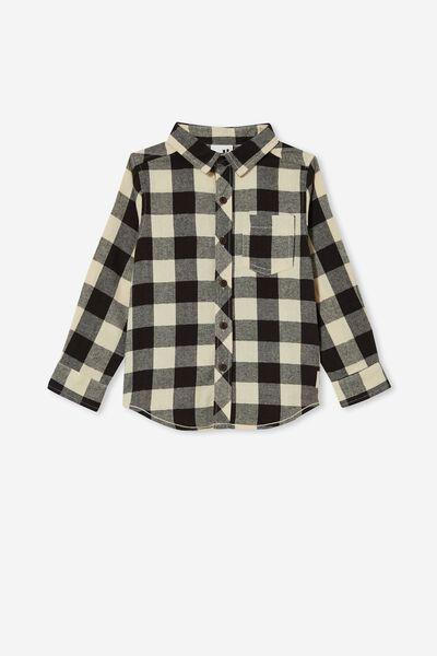 Rugged Long Sleeve Shirt, RAINY DAY/PHANTOM BUFFALO CHECK