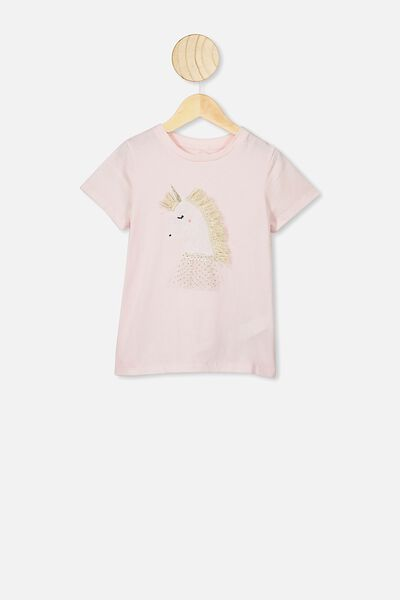 Stevie Ss Embellished Tee, CRYSTAL PINK/UNICORN PRINCESS