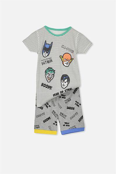 Joshua Short Sleeve Pyjama Set, JUSTICE LEAGUE