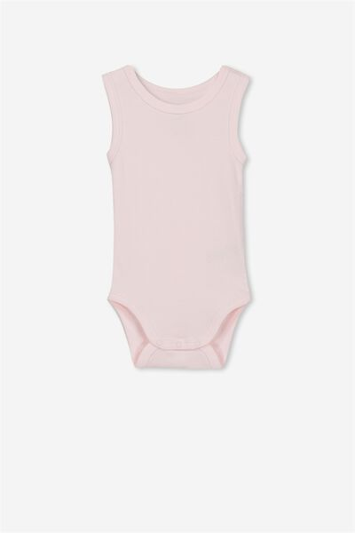 Newborn Singlet Bubbysuit, ESSENTIAL PINK