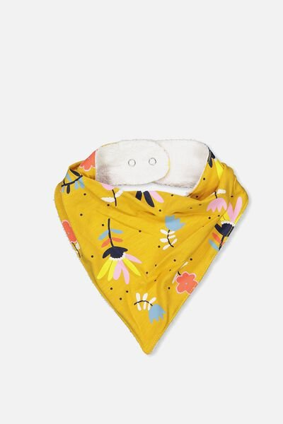 Dribble Bib, MINERAL YELLOW/FLORAL