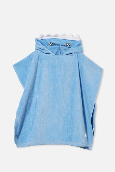 Kids Hooded Towel, BLUE POINTER SHARK