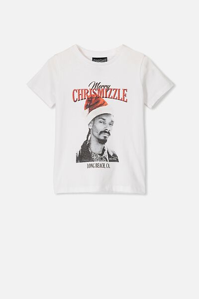 Lux Short Sleeve Tee, LCN MT WHITE/SNOOP CHRISTMIZZLE/MAX