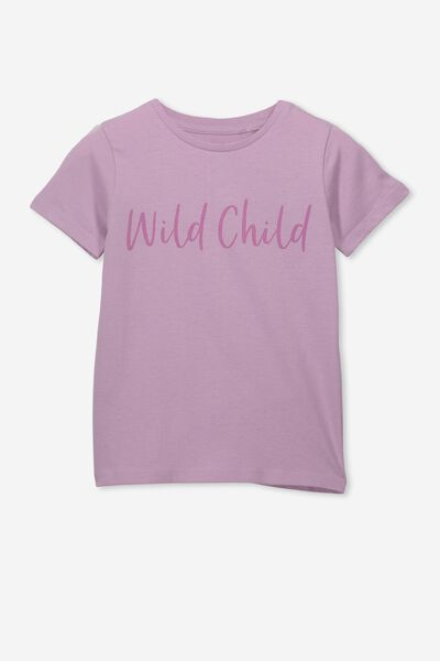Penelope Short Sleeve Tee, CHAULKY MAUVE/WILD CHILD/MAX