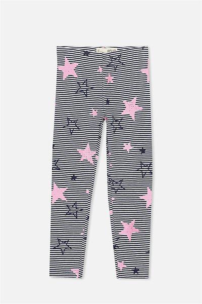 Huggie Tights, PEACOAT VANILLA STRIPE/HANDRAWN STARS