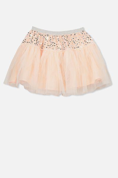 Trixiebelle Tulle Skirt, PEACHY SPARKLE