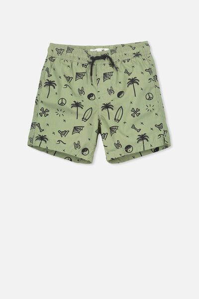 Murphy Swim Short, VINTAGE KHAKI/MIXED SURF