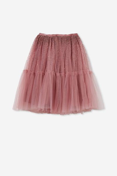 Trixiebelle Dress Up Skirt, DUSTY BERRY/SPARKLE