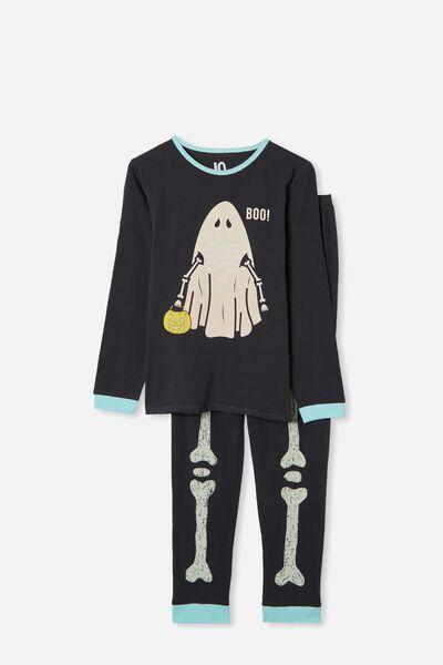Orlando Long Sleeve Pyjama Set, PHANTOM/SKELETON GHOST