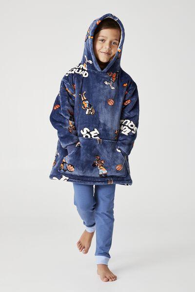 Snugget Kids Oversized Hoodie Licensed, LCN SPACE JAM TUNE SQUAD DUSK BLUE