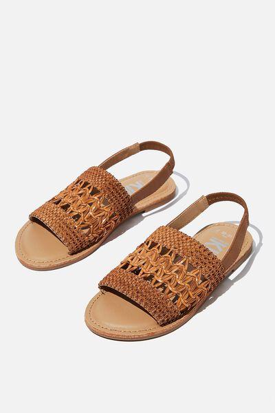 Woven Artisian Sandal, TAN