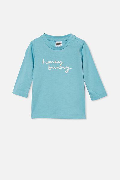Jamie Long Sleeve Tee, BLUE ICE/HONEY BUNNY