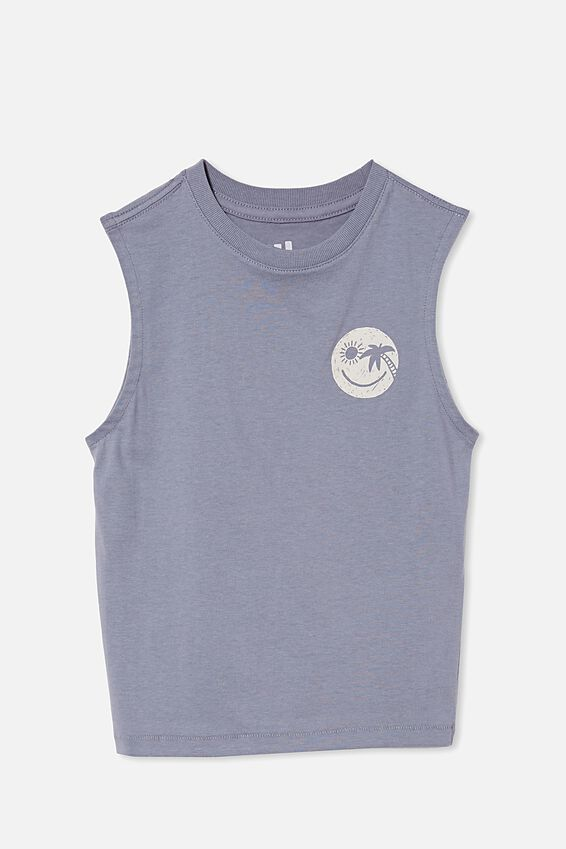 Otis Muscle Tank, STEEL/SMILE