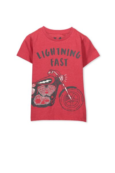 Max Short Sleeve Tee, KETCHUP MARLE/LIGHTENING FAST