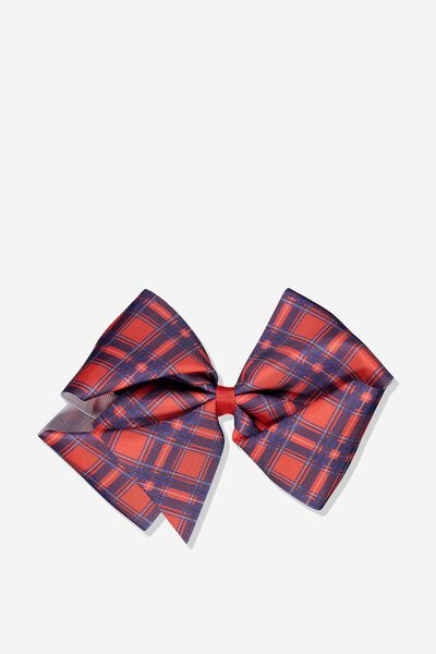 Statement Bows, RALLY RED/CHECK
