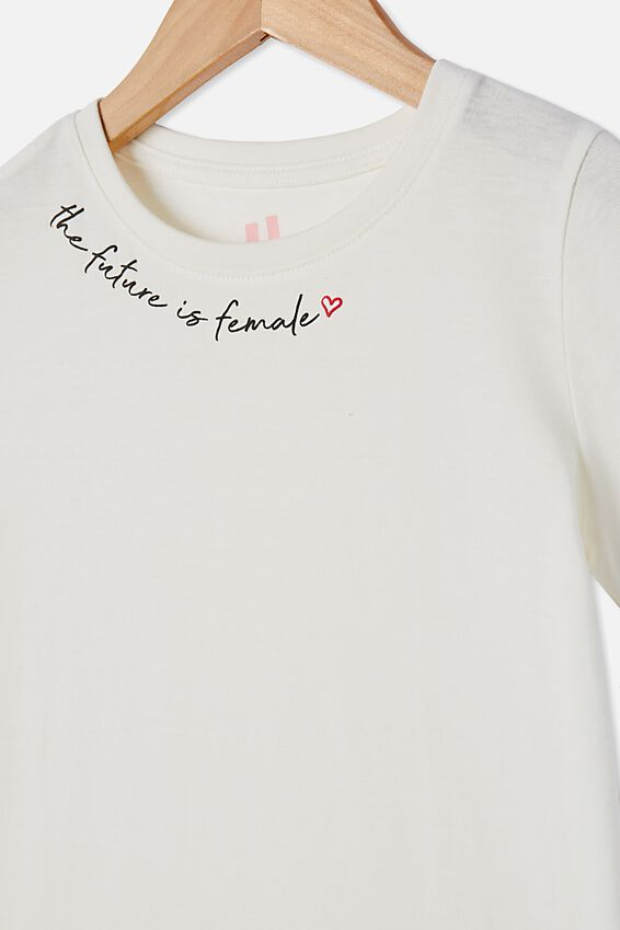 Penelope Short Sleeve Tee, VANILLA/FUTURE IS FEMALE
