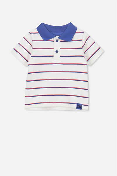 Hugo Polo Tee, VANILLA/STRIPE ALL DAY