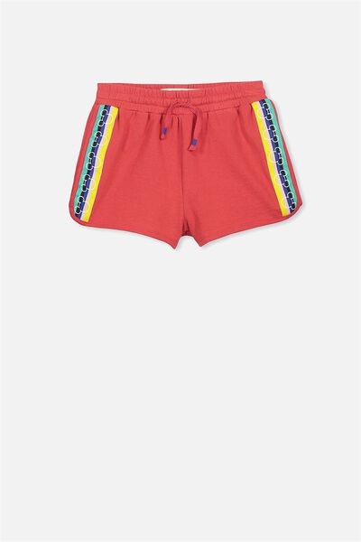 Neve Knit Short, MICKEY SIDE TAPE/BONFIRE RED