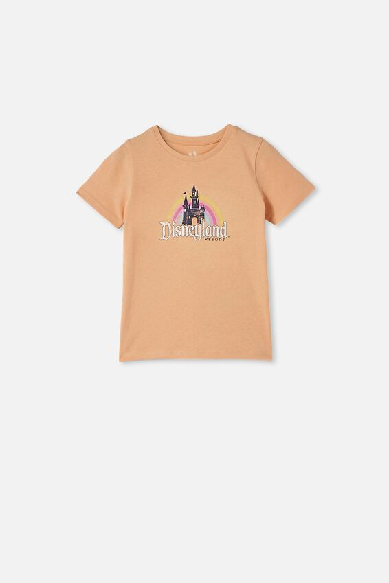 Disneyland Short Sleeve Tee, LCN DIS RAINBOW CASTLE/PEACHY