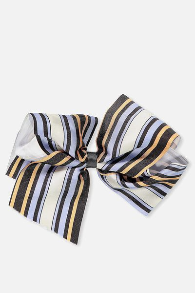 Statement Bows, MULTI STRIPE
