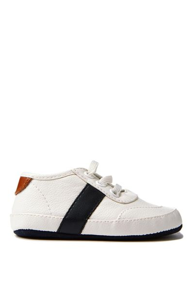 Charlie Mini Sneaker, WHITE/NAVY
