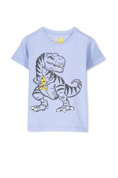 Max Short Sleeve Tee, EXCLUSIVE BLUE/PIZZA DINO