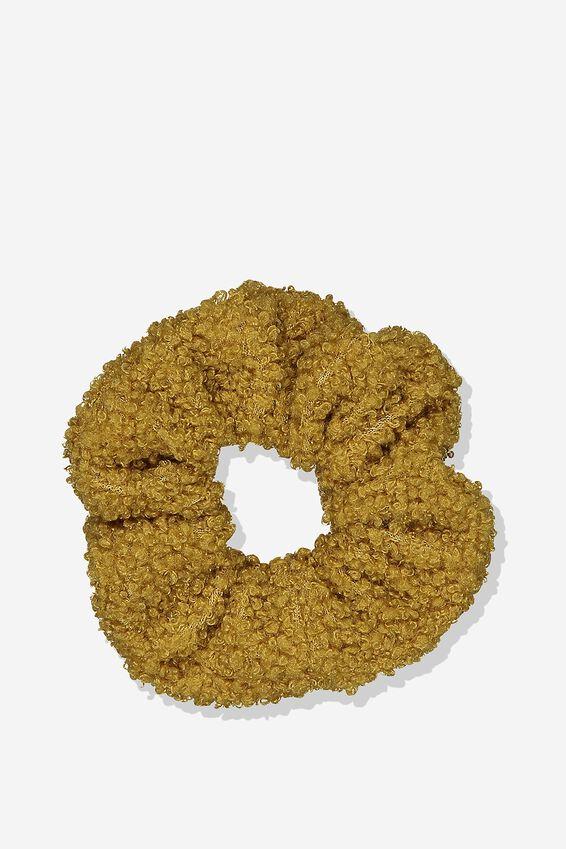 Scrunchie, GOLDEN ORANGE/TEDDY